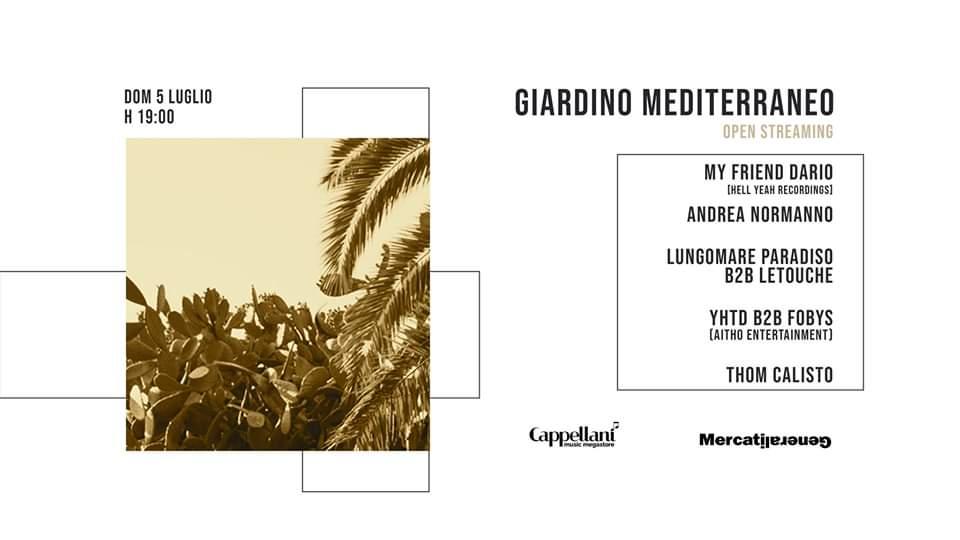 EVENTI MUSICA |Giardino Mediterraneo - Open Streaming