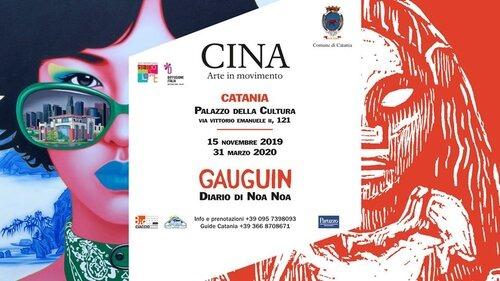 """Mostre: """"Cina – arte in movimento"""" e """"Gauguin – diaria di Noa Noa"""", dal 15 novembre al 31 maggio, dalle ore 10.00 alle ore 19.00 – Palazzo della Cultura Catania"""