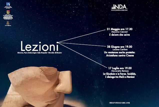 INDA - ciclo di lezioni con Massimo Cacciari, Luciano Canfora ed Alessandro Baricco