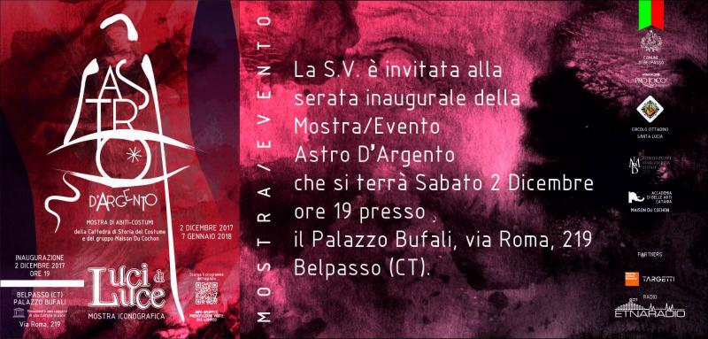 "Al via una mostra dedicata a Santa Lucia, ""Astro D'Argento"""