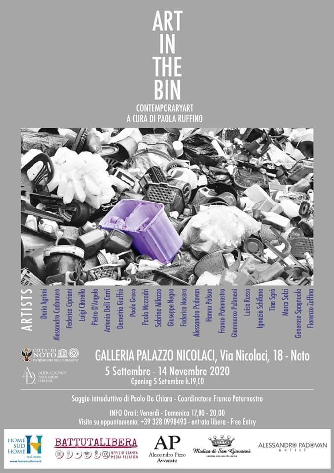 Il tema del recupero e del riuso creativo dei materiali di scarto nelle opere di 22 artisti internazionali: è Art in the Bin