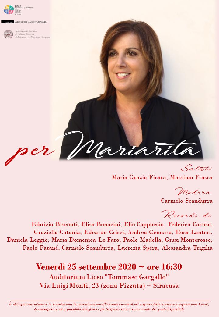 Siracusa: Save Villa Reimann chiede l'istituzione di un premio alla memoria di Mariarita Sgarlata