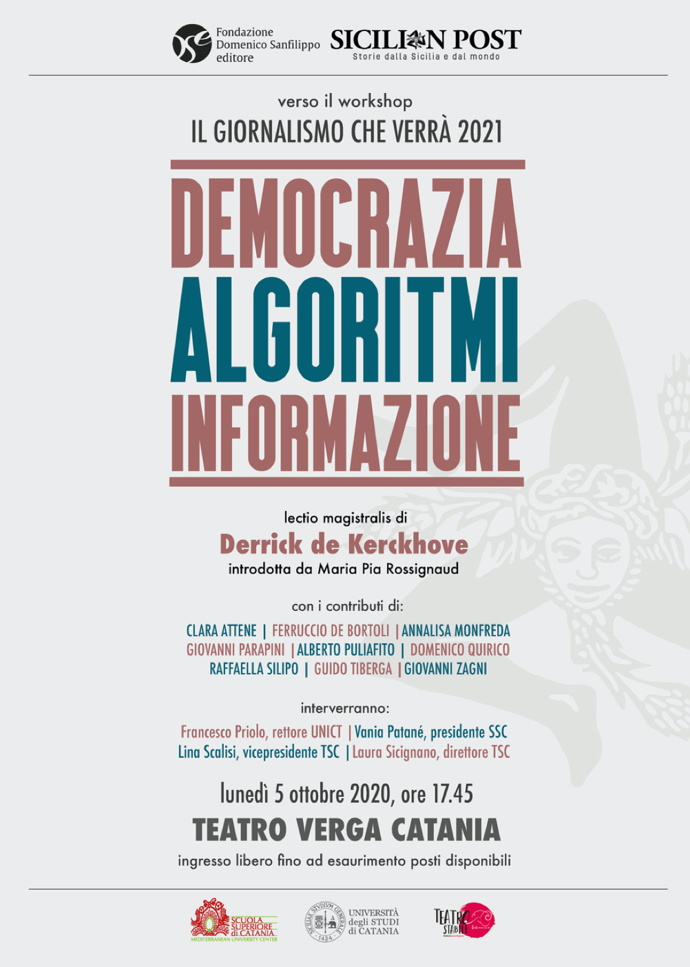 """Democrazia, algoritmi, informazione: a Catania, un'anteprima del workshop """"Il giornalismo che verrà"""""""