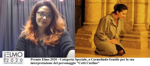 """PREMIO ELMO 2020: tra i vincitori Carmelinda Gentile, per la sua interpretazione di """"Cetti Curfino"""""""