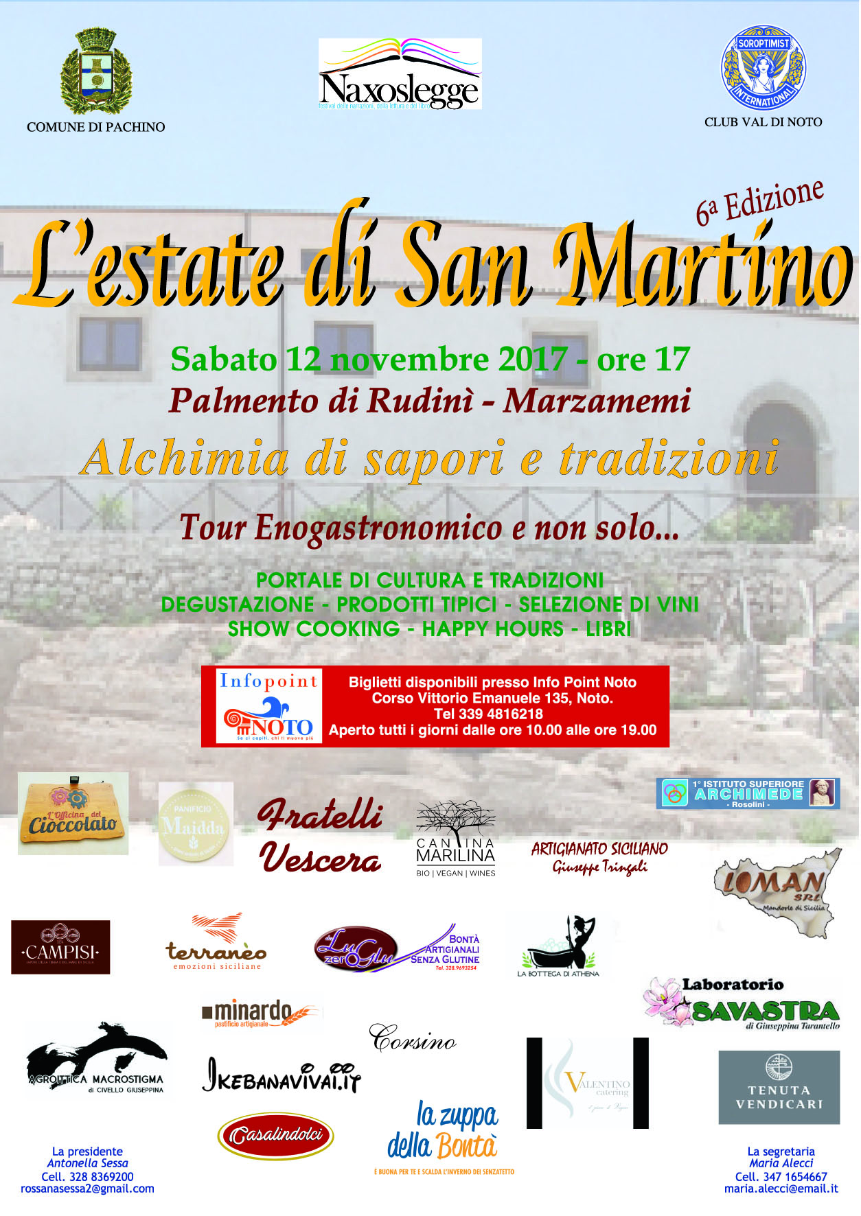 Tutto pronto a Pachino per l'Estate di San Martino